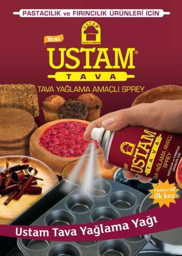 USTAM TAVA - Професионален спрей омазнител за тави,форми за печене и готвене